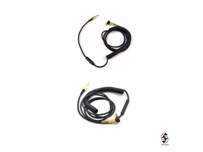 Jednotlačítkový a třítlačítkový originální kabel pro sluchátka Marshall