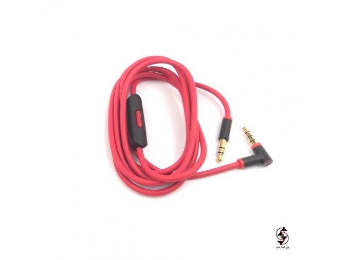 Červeno-černý kabel pro sluchátka Beats - druhovýroba