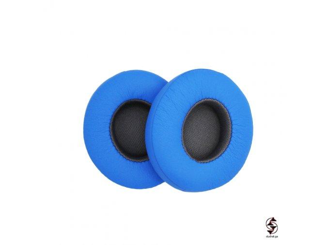 Modré provedení náušníků s šedými středy - Flash Blue edice Beats solo 2 Wireless - aktivní edice