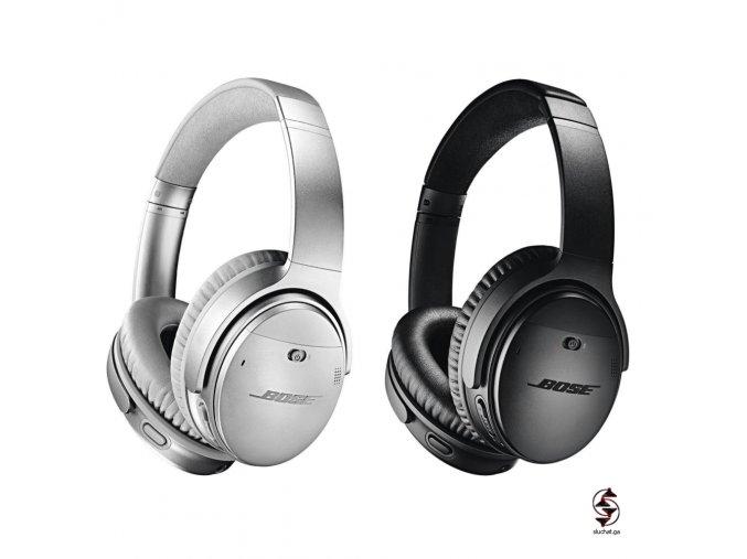 Bluetooth sluchátka s Noise cancellingem Bose QC35 Mark 2 - černá a stříbrná