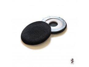Semišové náušníky pro sluchátka s průměrem 70mm.