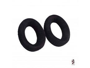 Semišové náušníky pro sluchátka Sennheiser HD - černé