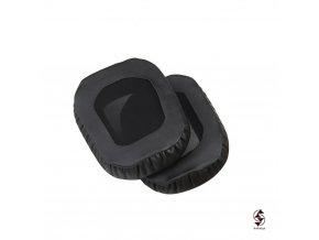 Náušníky Razer Tiamat černé - zadní strana s převlekem