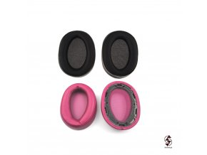Náušníky ke sluchátkům Sony MDR-100ABN a WH-H900N - fialové a černé