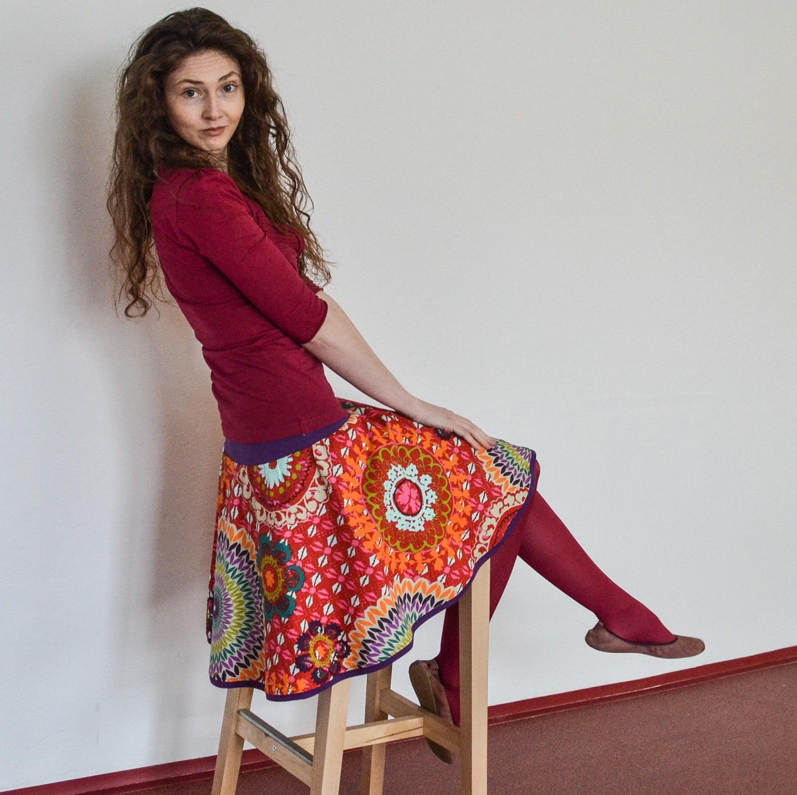 Půlkolové sukně