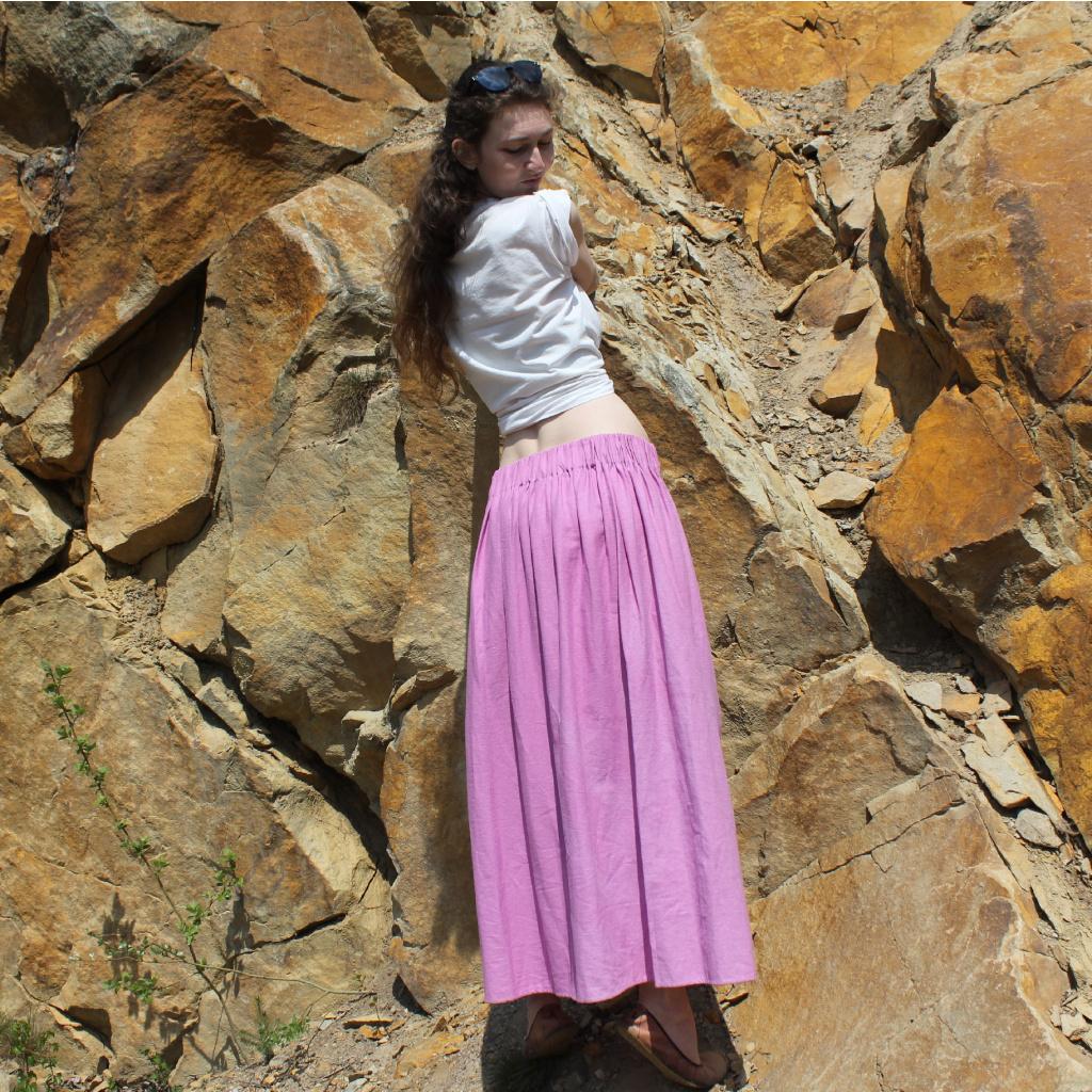 lněná sukně dlouhá