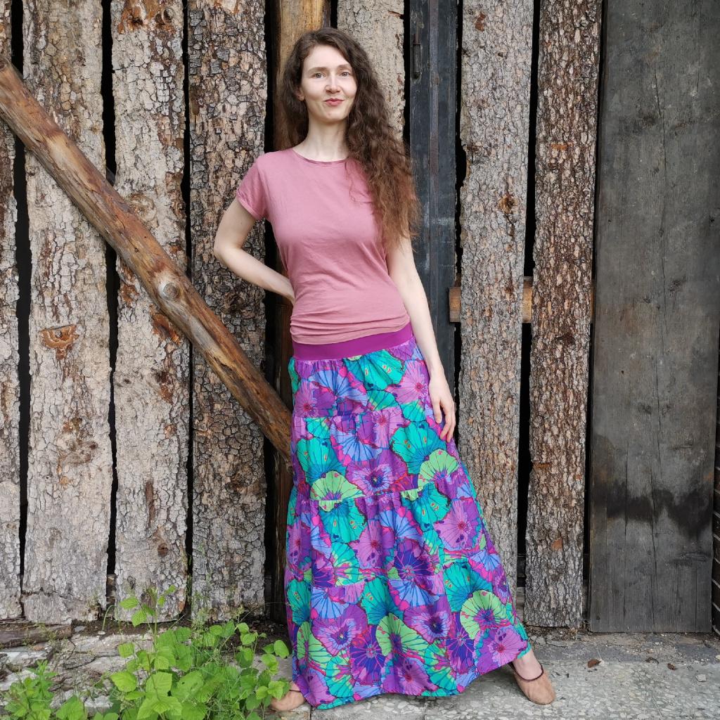 boho sukně dlouhá