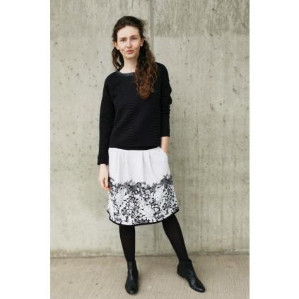 elegantní, černobílá krátká sukně
