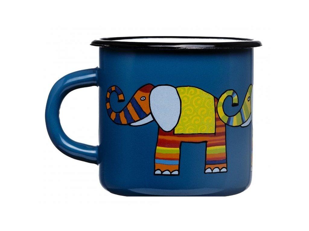 Smaltovany hrnek smaltum cz namornicka modr slon
