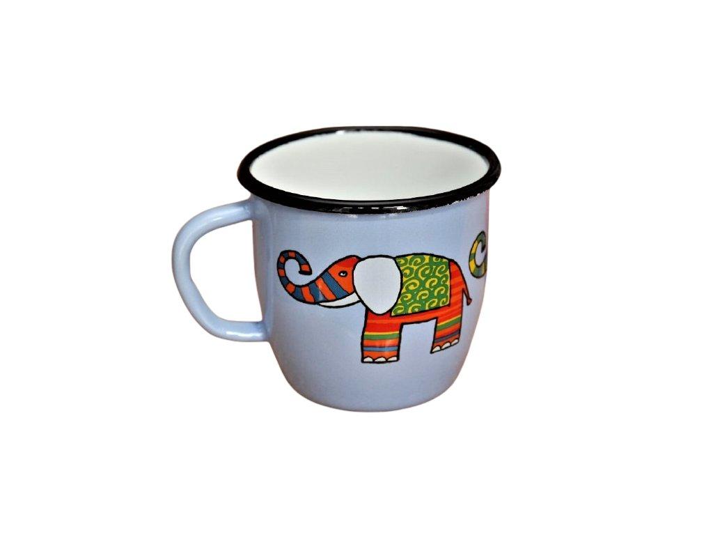 Smaltovany hrnek plechacek smaltum cz Svetle modry slon 3 removebg preview