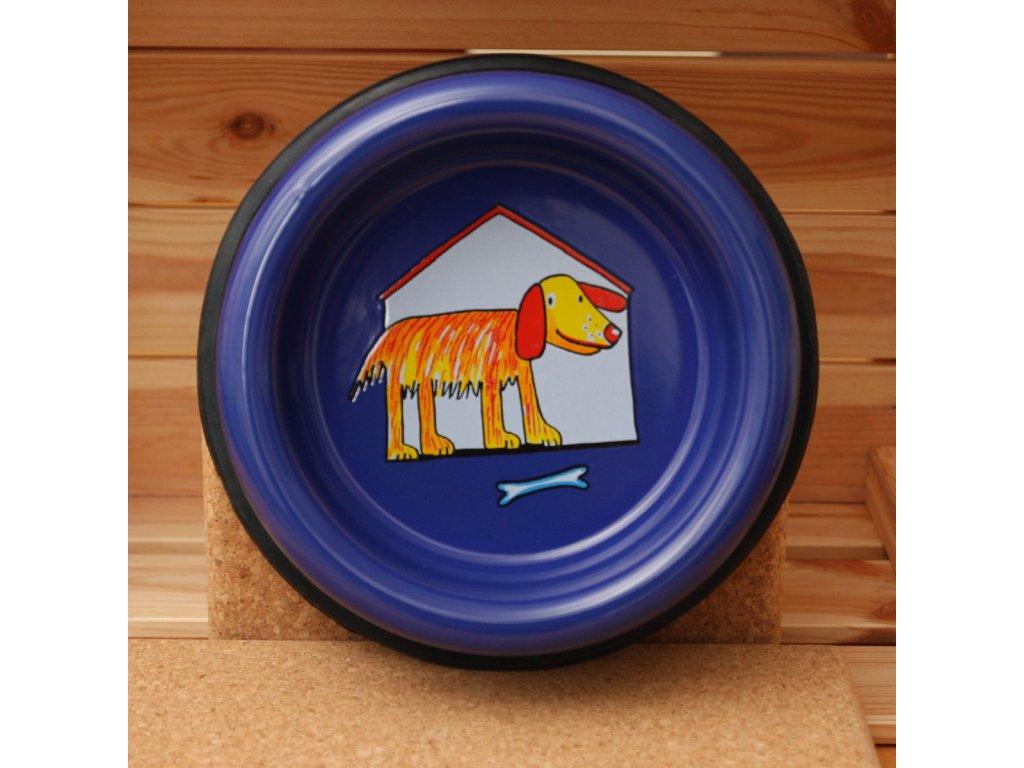 Psí miska (střední) - psík v boudě