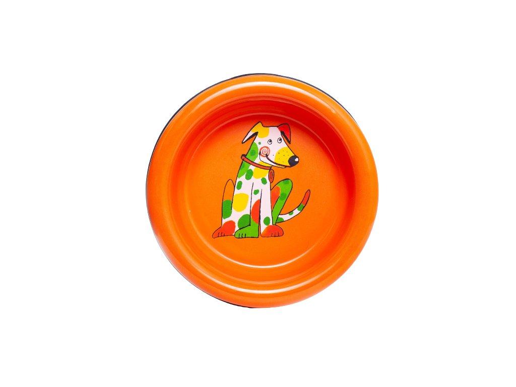 smaltovana miska pes oranz removebg preview