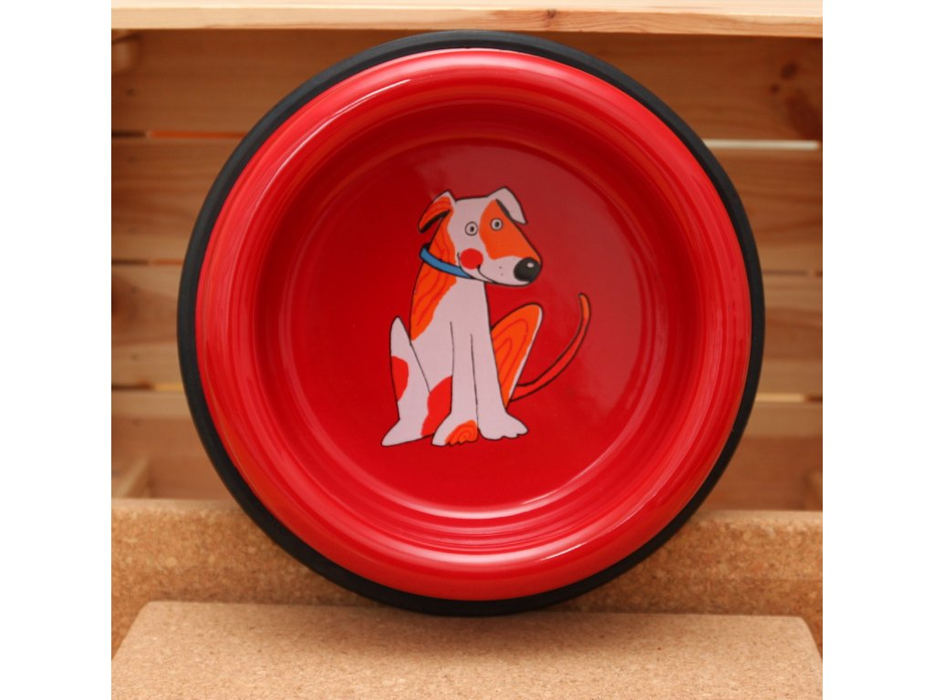 Psí miska - Červená (velká)