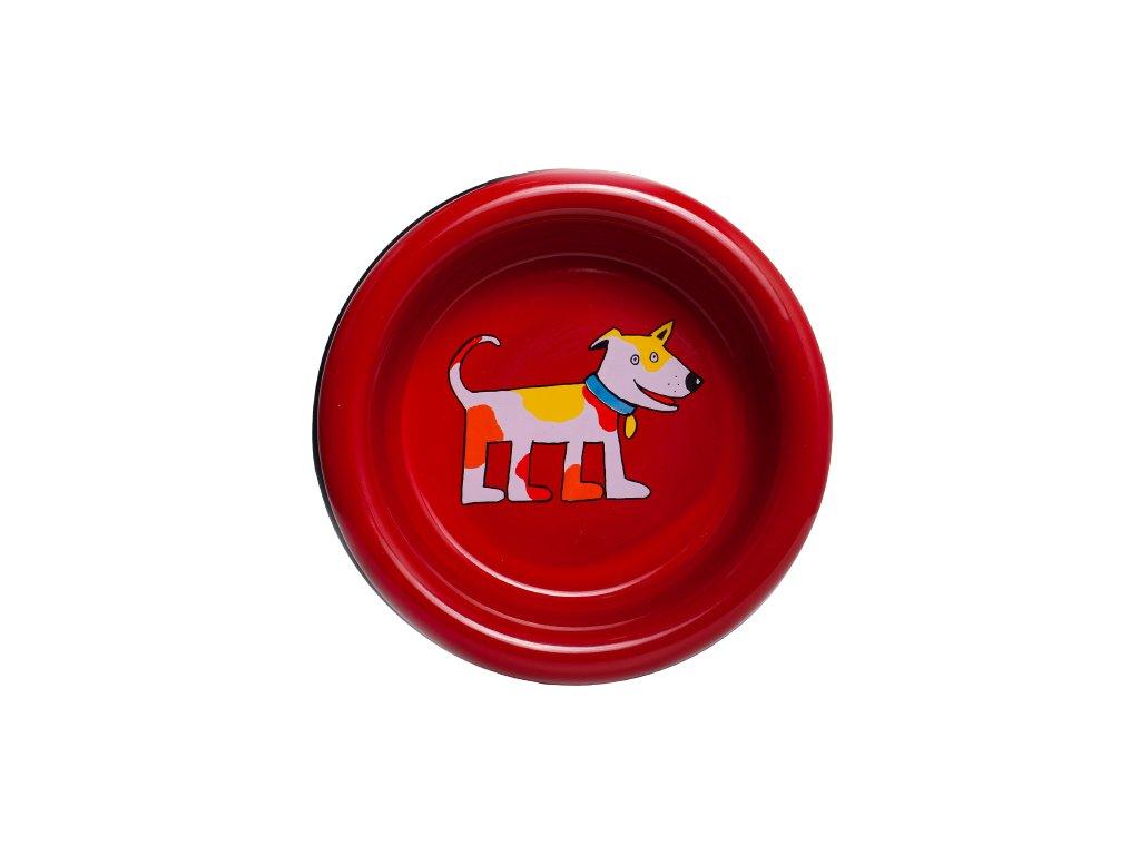 miska pro psy smaltovana cervena velka 3 removebg preview