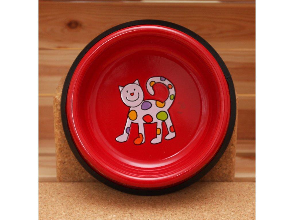 Kočicí miska - červená