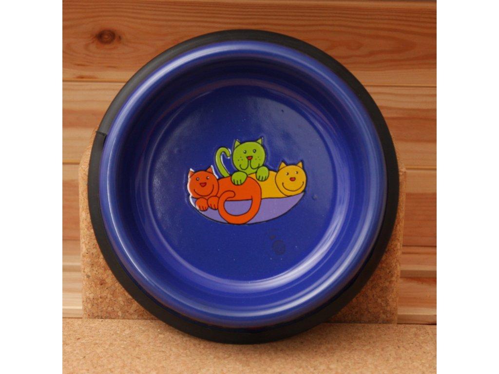 Kočicí miska - modrá