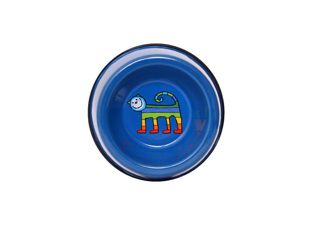 Smaltovana miska kocka modra mala 3 removebg preview 1