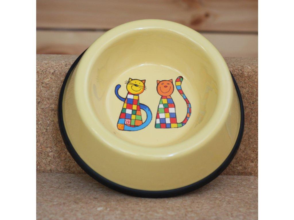 Kočicí miska - žlutá (malá)