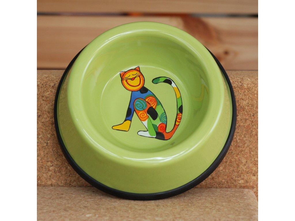Kočicí miska - zelená (malá)