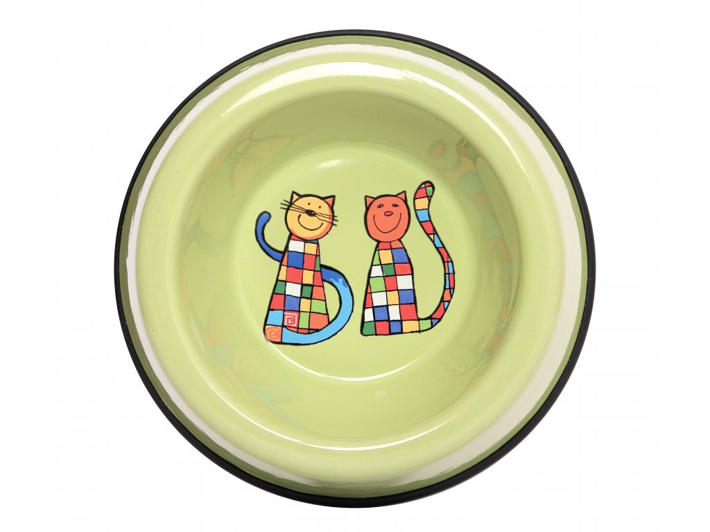 Miska pro kocky smaltovana zelena kocka 1 (2)