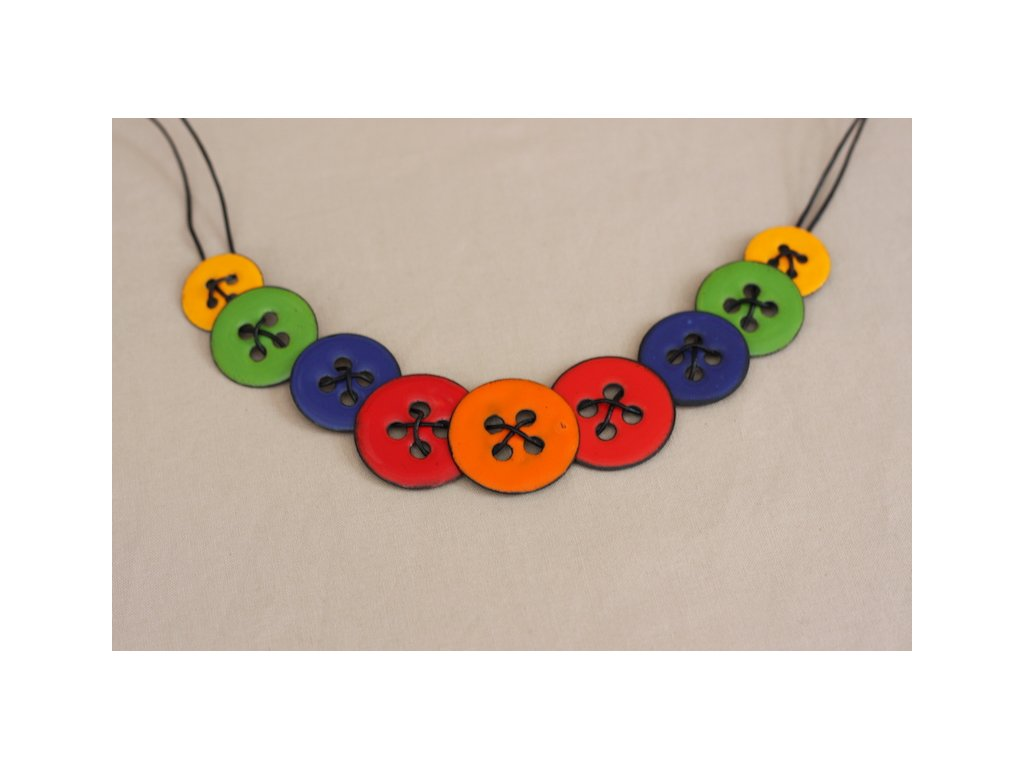 colourful necklace from enamel