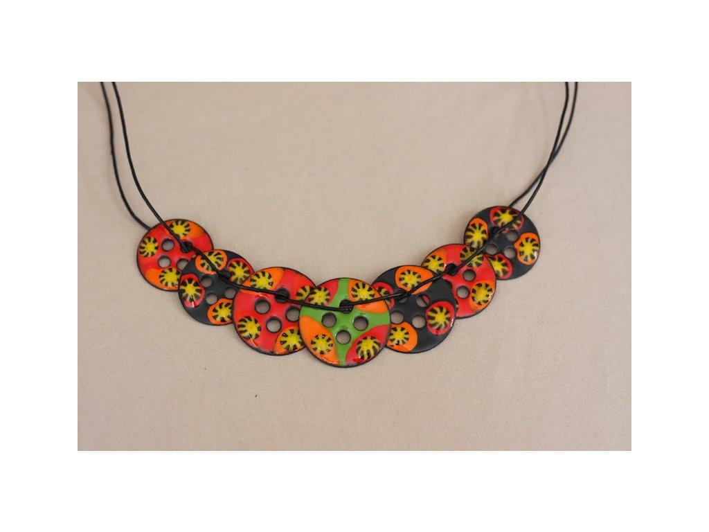 enamel necklace