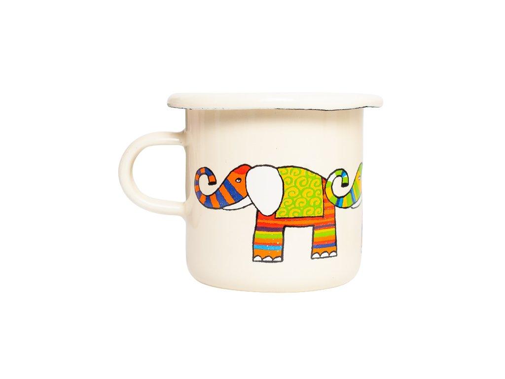 Smaltovany espresso hrnek bezovy slon 2 removebg preview