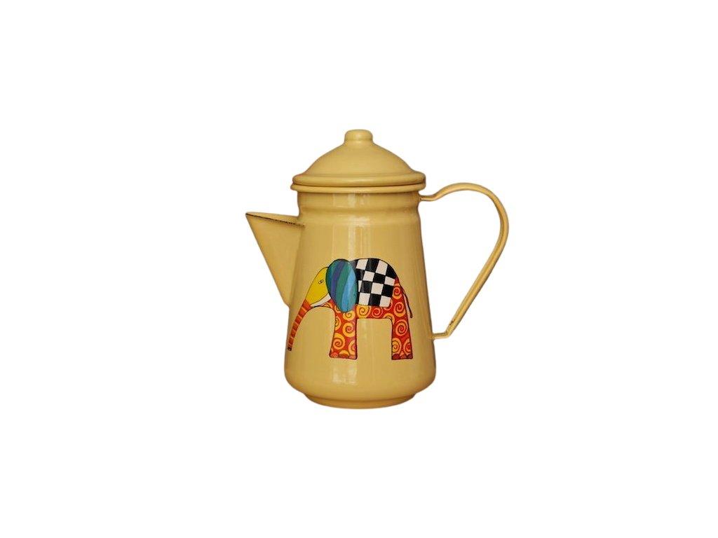 smaltovana konvice na kavu zluta slon 3 removebg preview