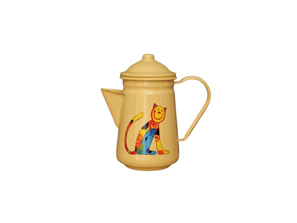 smaltovana konvice na kavu zluta kote removebg preview