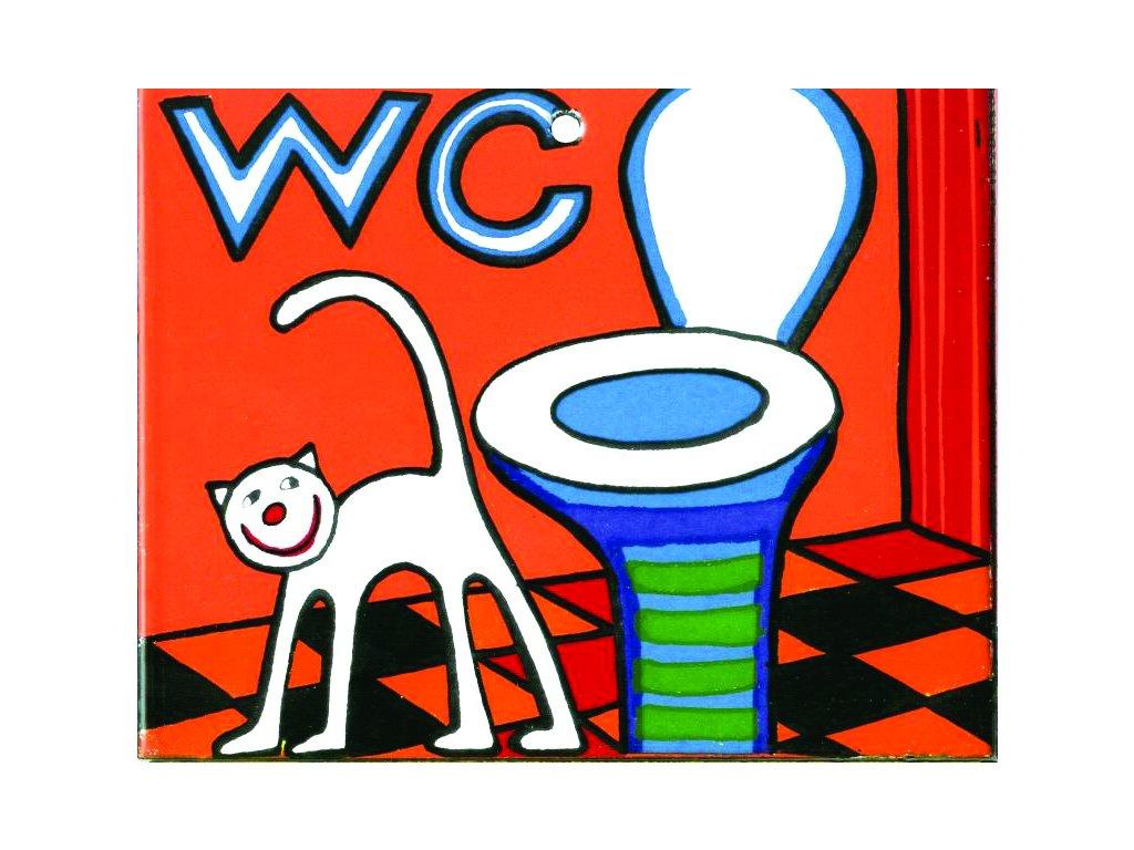 WC - smaltovaná cedulka