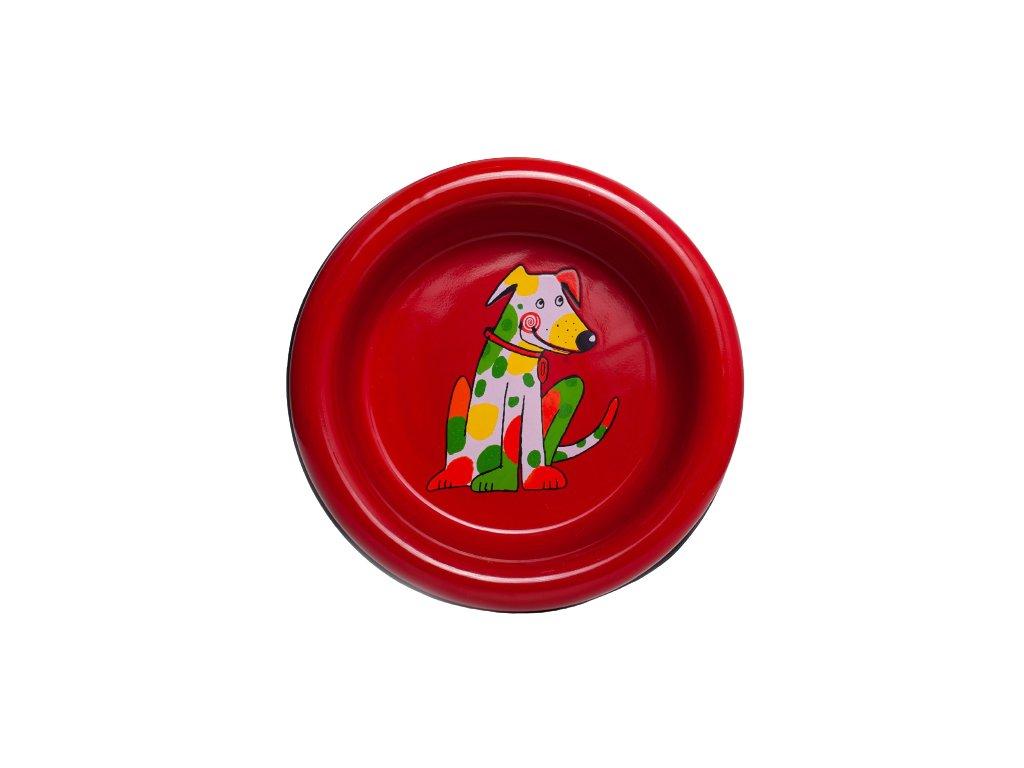 miska pro psy smaltovana cervena velka 5 removebg preview