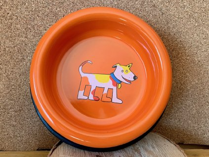 miska pro psy oranžová velka