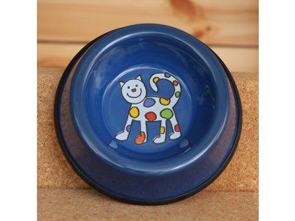 Kočicí miska - modrá (malá)