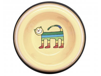 Miska pro kocky smaltovana zluta kote 1