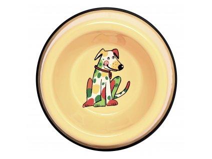 Miska pro kocky smaltovana zluta pes 4