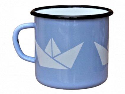 Smaltovany hrnek plechacek smaltum cz Svetle modry lod 8 removebg preview