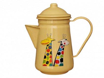 smaltovana konvice na kavu zluta zirafa removebg preview