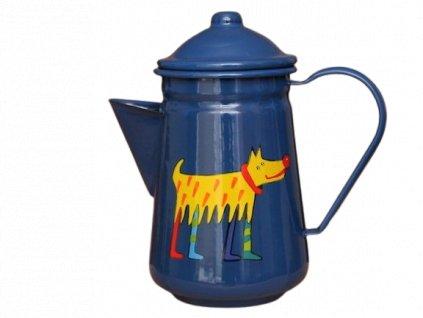 Smaltovana konvice na kavu motiv pes 1 removebg preview