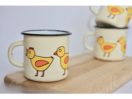 enamel mug with chick
