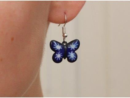 Náušnice motýlek