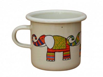 Smaltovany hrnek smaltum cz bily slon espresso removebg preview
