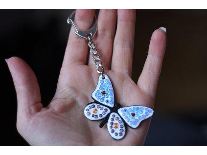 Klíčenka - motýl