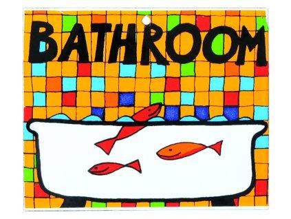 cedule  Koupelna smalt