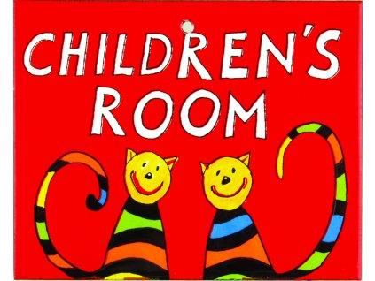 smaltovaná cedulka na dveře dětský pokoj