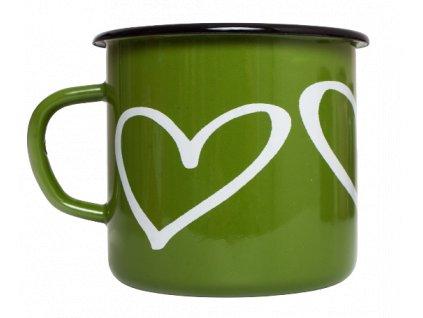 Smaltovany hrnek zeleny srdce 6 removebg preview