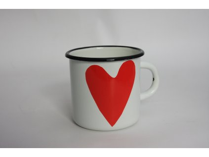 white mug with heart