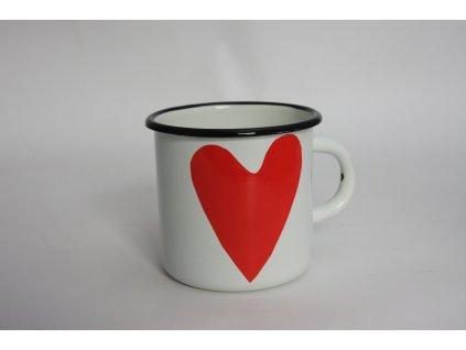 white mug with heart