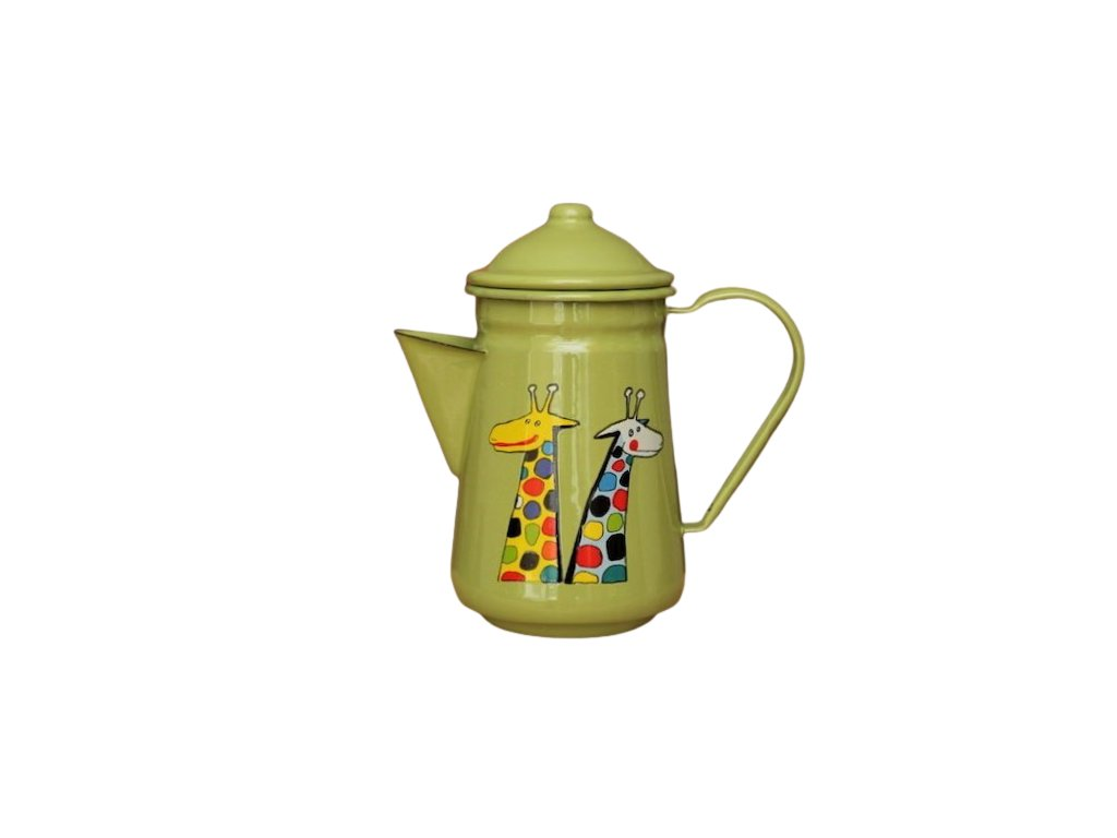 1017 coffee pot with giraffe