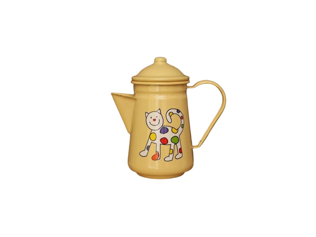 1020 coffee pot with kitten