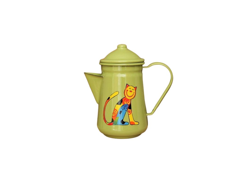1026 coffee pot with cat